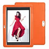 Universal Silicone Cover Case for 10.1 Inch Android Tablet PC, salaheiyodd Ultra Slim Lightweight 10.1 Tablet Protection Case for Wecool 10.1 inch Android Tablet, Hoozo 10, BENEVE 10.1, (Orange)