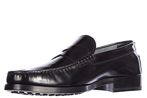 Tod's mocasines en piel hombres nuevo fondo cuero negro