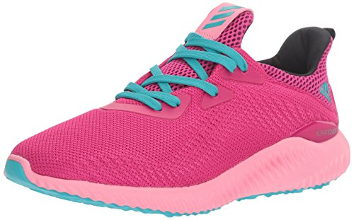 adidas Performance Girls' Alphabounce j Running Shoe, Bold Pink/Easy Pink/Energy Blue, 5 M US Big Kid by adidas