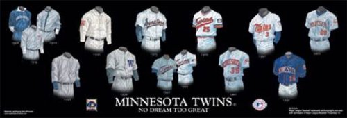 Personalized Framed Evolution History Minnesota Twins Uniforms Print with your Photo
