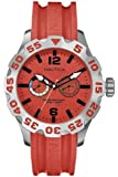 Nautica Men's Quartz Watch with Red Dial Chronograph Display and Red Resin Strap A16602G