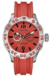 Nautica A16602G - Reloj , correa de resina color rojo