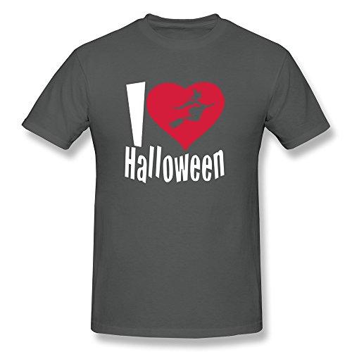 Happy Halloween O Neck Men T Shirt DeepHeather Size XS Novelty By Rahk]()