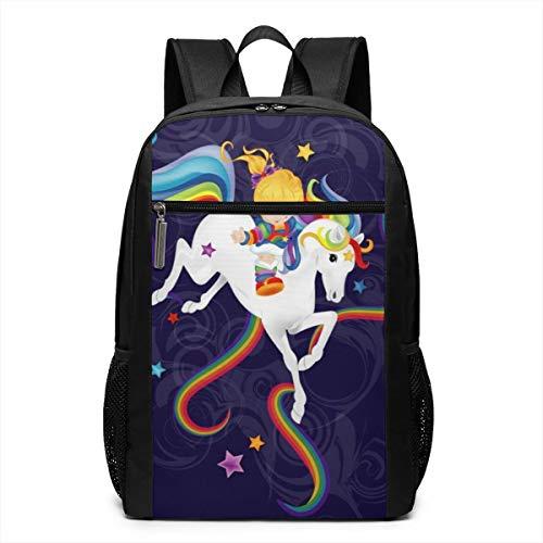 Ksiwo Rainbow Brite and Starlite Memories Travel Laptop Backpack, Anti Theft Backpack Port for Men and Women, Water Resistant College School Computer Bookbag,Business - Brite Backpack Rainbow