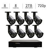 Q-See QC958-8Y5-2 8 Channel DVR Security System, 8 HD 720p Cameras 2TB HDD, – QC958-8Y5-2 (Black) For Sale
