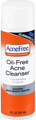 AcneFree Oil-Free Acne Cleanser, Benzoyl Peroxide 2.5% Acne