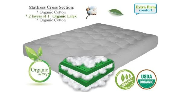 amazon    the futon shop 8   natural organic california king size latex   cotton mattress  kitchen  u0026 dining amazon    the futon shop 8   natural organic california king size      rh   amazon