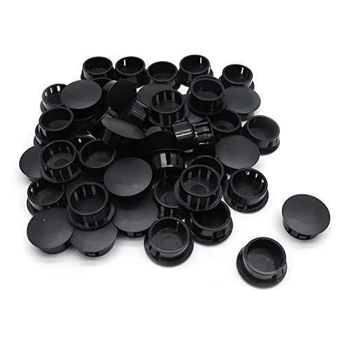 - BTMB 20mm/0.78'' Black Nylon Locking Hole Plugs Plastic Knockout Panel Hole Cover,Pack of 50
