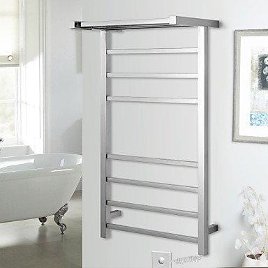 LI Contemporary Mirror Polished Wall Mounted Towel Warmer , 110-120V by LN the bathroom