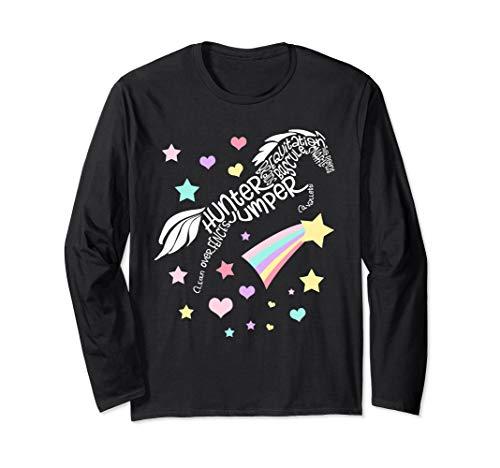 Hunter Jumper Gift Horse Jumping Word Art Long Sleeve T-Shirt