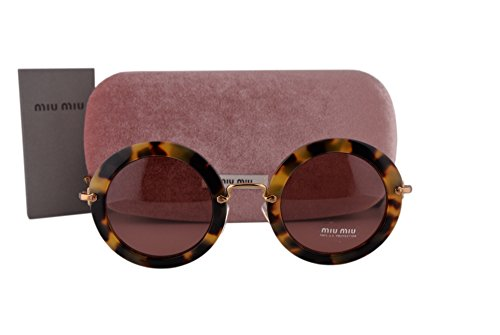 Miu Miu MU13NS Sunglasses Havana w/Dark Red Lens 7S00A0 SMU13N SMU 13N MU - Middleton Sunglasses Kate