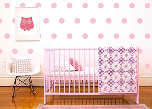 Baby Pink Dot Stickers Wall Decal Dots +