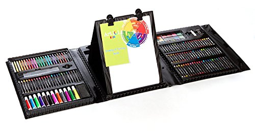 Kids 179-Piece Double Sided Trifold Easel Art Set (Premium pack) by Art 101 USA.