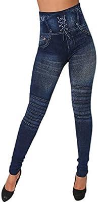 Womens Skinny Legging High Waist Jeans Trousers Denim Stretchy Pencil Pants Top