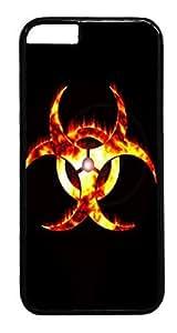 iphone 5c Case, Fire Biohazard Symbol Designer Rugged Hard Plastic Back Case Cover Protector for Apple iphone 5c(INCH) PC Black