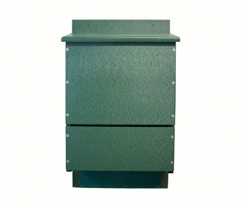 2 PACK OBC Bat House Triple Chamber Poly Green