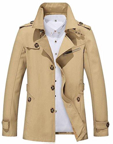 waxed trench coat - 8