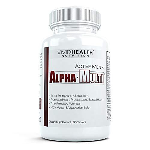 Active Men's Alpha-Multi - High Performance Multivitamin Providing Complete Nutrition for Active Men, Male Health, 60 Tablets per Bottle (1 Bottle) (Best Multivitamin For Active Male)