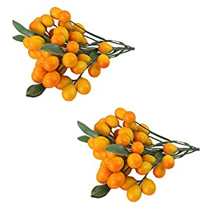 East Majik Artificial Kumquat Sets for Home House Kitchen Party Decoration 2 Sets 22