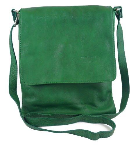 Italian Bag Company - Bolso bandolera Mujer mediano verde