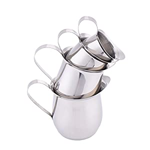 Cute Stainless Steel Espresso Coffee Milk Frothing Cup Jug Jar Cappuccino Latte Art Tool Drum Shape by Fulstarshop