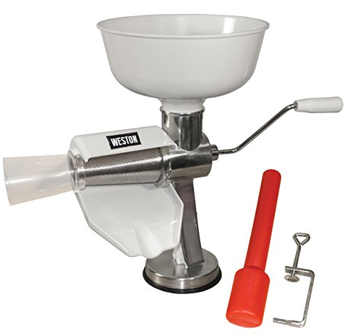 Tomato Squeezer - Weston Food Strainer and Sauce Maker for Tomato, Fresh Fruits and Vegetables (07-0801)