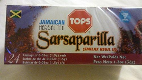 Tops Jamaican Herbal Teas - Sarsaparilla (Smilax Regil ll) (Root Sarsaparilla Jamaican)