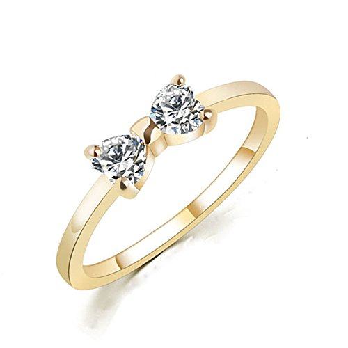 gold bow ring - 5