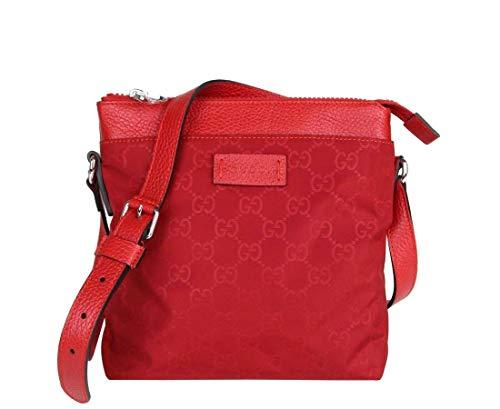 Gucci Women's Red Guccissima Nylon Small Crossbody Bag 510339 6523