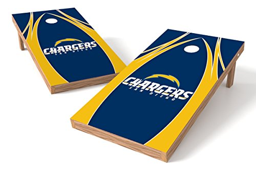 Wild Sports NFL San Diego Chargers 2' x 4' V Logo Authentic Cornhole Game Set