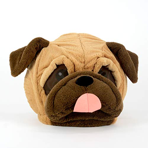 Maskimals Oversized Plush Halloween Mask - Pug ()