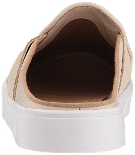 KAANAS Womens San Rafael Contrast Heel Lace-up Leather Casual Fashion Sneaker Sand H96U4