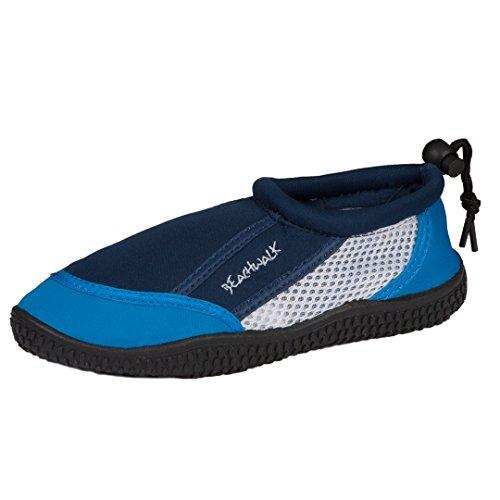 Kinder Strandschuhe | Badeschuhe | Surfschuhe aus Neopren für Mädchen oder Jungen | Rutschfeste Gummisohle Blau