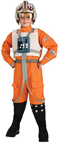 Rubies Star Wars Classic Child's Deluxe X-Wing Pilot Costume, Small from Rubie's