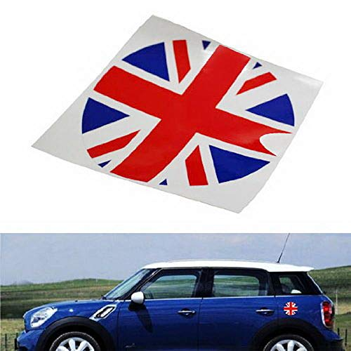 2016 Mini Cooper Bumper - iJDMTOY Red/Blue Union Jack UK Flag Pattern Vinyl Sticker Decal for Mini Cooper Gas Cap Cover