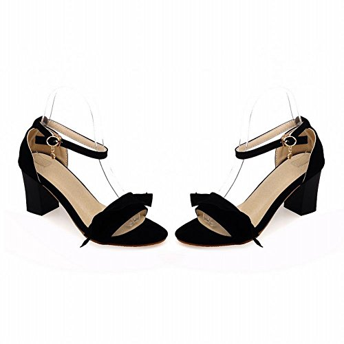 Carol Shoes Grace Womens Buckle Fashion Ankle-strap Chic Chunky High Heel Sandals Black GSuF2Vjj