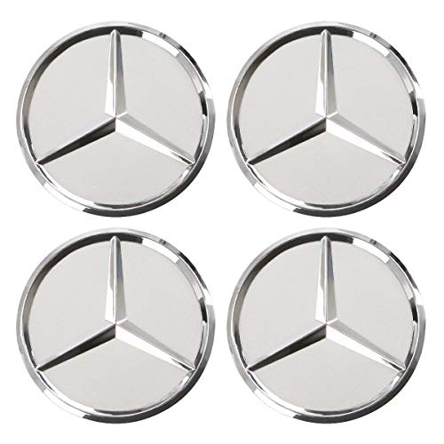 ORFORD Wheel Center Hub Caps Fit for Mercedes Benz, 4PCS 75mm/2.95