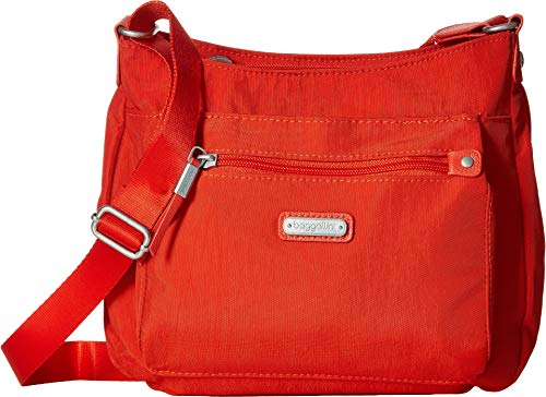 - Baggallini Women's New Classic Uptown Bagg with RFID Phone Wristlet Vibrant Poppy One Size