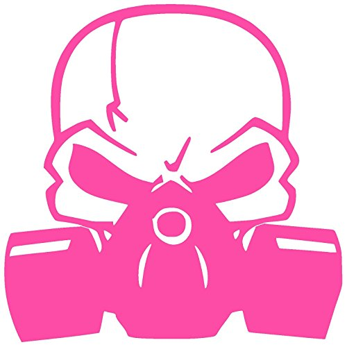 SKULL WITH RESPIRATOR GAS MASK BIOHAZARD Vinyl Sticker Decal (8