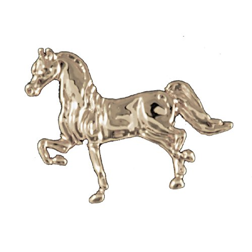 Exselle Show Gold Plate Horse Stock Pin
