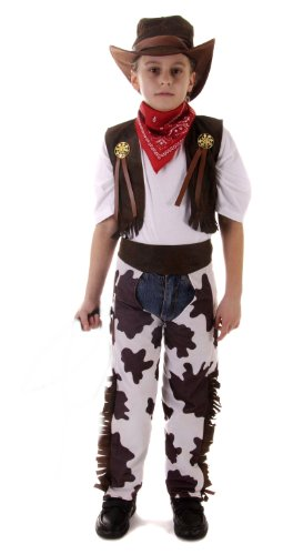 Small 4-6 Years Boy's Cowboy Costume (Child Cowboy Chaps)