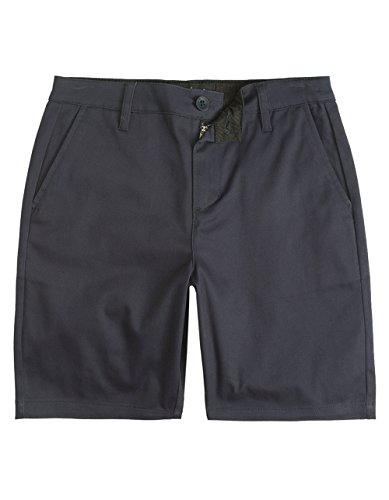 Crown Mens Shorts (Blue Crown Stretch Classic Chino Navy Shorts, Dark Blue, 34)