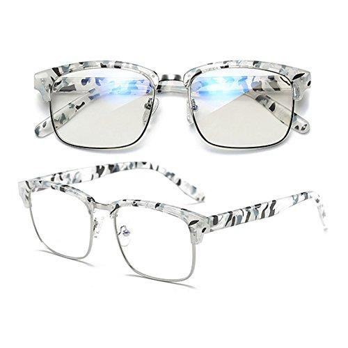 design intensité de trame demi bleu Transparent Spot Inlefen optiques minimaliste lunettes anti Matériau Mode souple sans de verres 5Wq7R1P