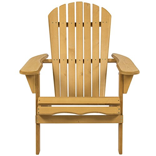 Cedar Looks Dining Chair (Foldable Adirondack Wood Chair Lawn-Deck Patio Garden Furniture Looks Good In Your Backyard Pool Area)