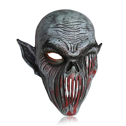 LarpGears Novelty Halloween Costume Party Latex Scary Evil Mask for Adults]()