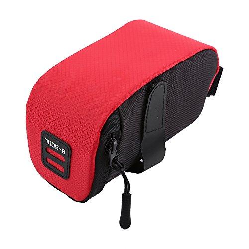 VGEBY1 Bike Saddle Bag, Bicycle Mini Rear Seat Bag Tail Bag Under Seat Bag for Mountain Bike Road Bike(Red) ()