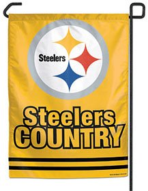 NFL Pittsburgh Steelers WCR69990091 Garden Flag, 11'' x 15'' by WinCraft