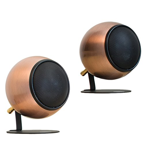 Orb Audio Mod1 Round Stereo & TV Speakers - Antiqued Copper by Orb Audio