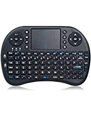 English/Arabic i8 mini keyboard backlit wireless Keyboard & Touch-Pad for android tv box, PC's