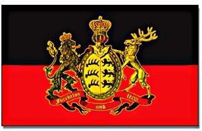 gute Qualit/ät Flagge//Fahne K/ÖNIGREICH W/ÜRTTEMBERG Staatsflagge//Landesflagge//Hissflagge mit /Ösen 150x90 cm furchtlos und treu